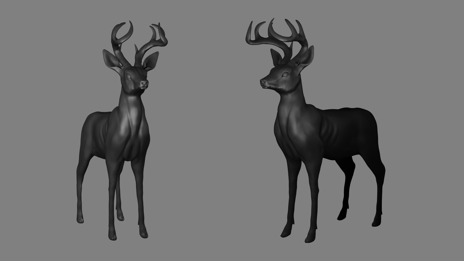 Francisco Sotelo - Deer Zbrush Sculpt