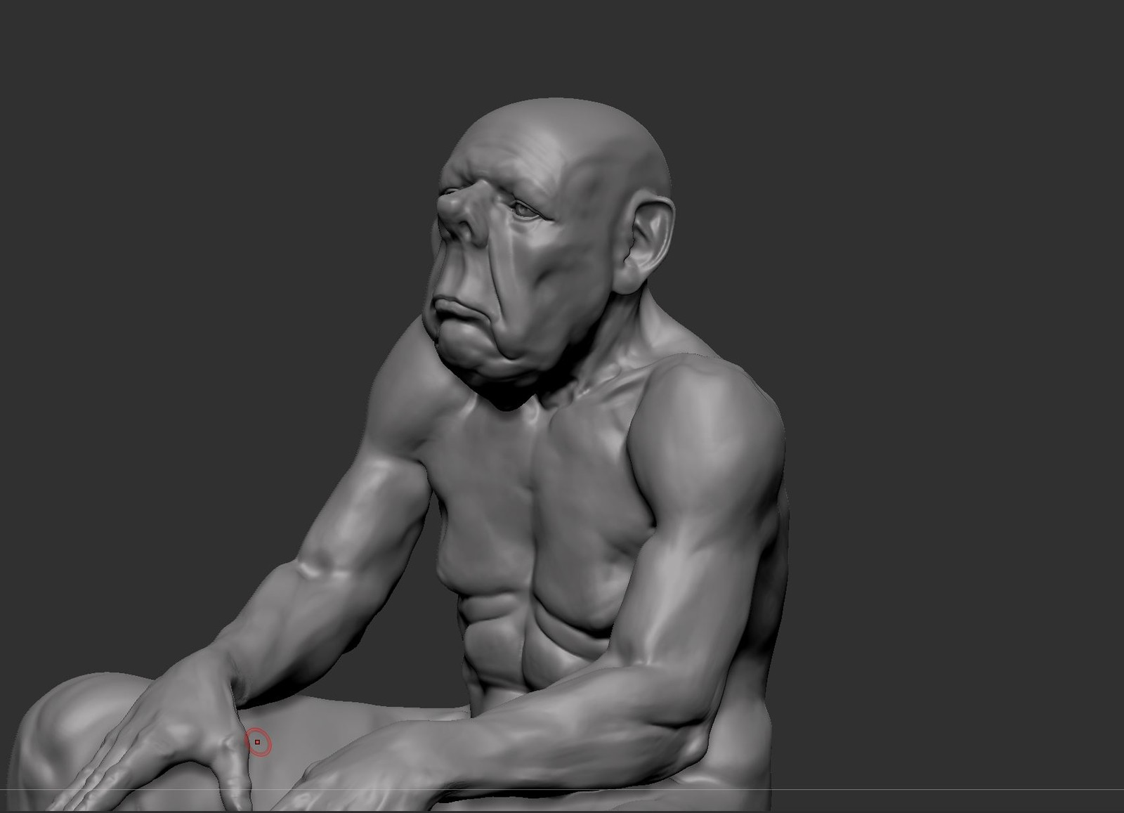 Tired Old London Boxer, Work in Progress