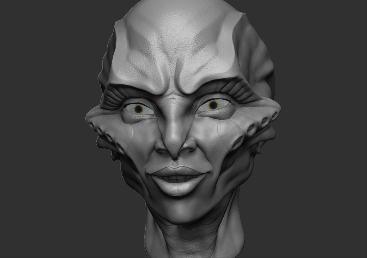 Lucretia the alien