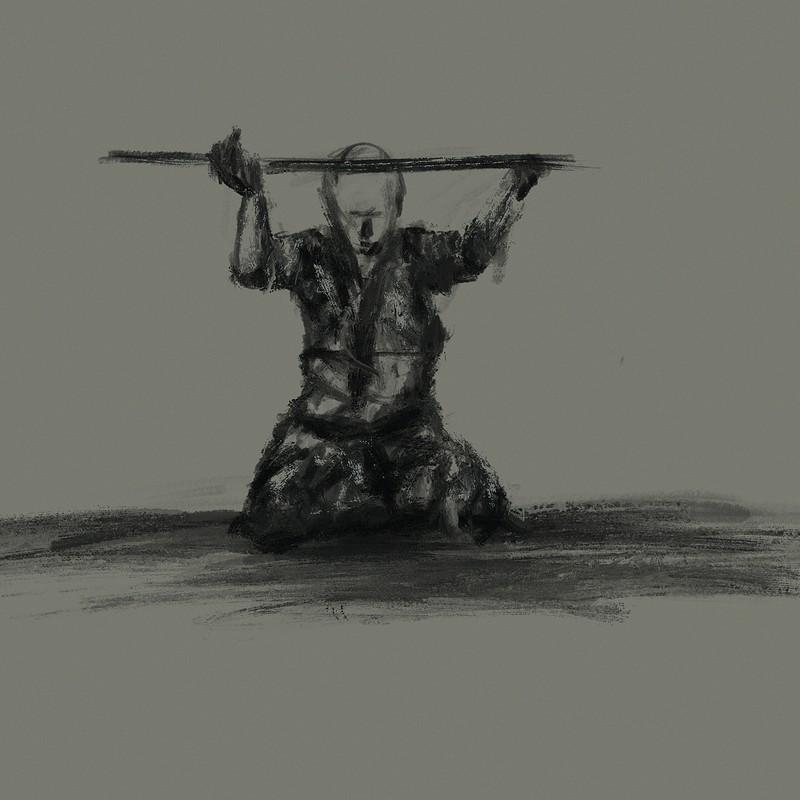 Morning sketching: Rei (respect).