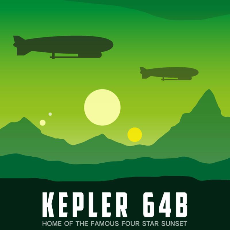 Kepler 64B - Tourism Poster