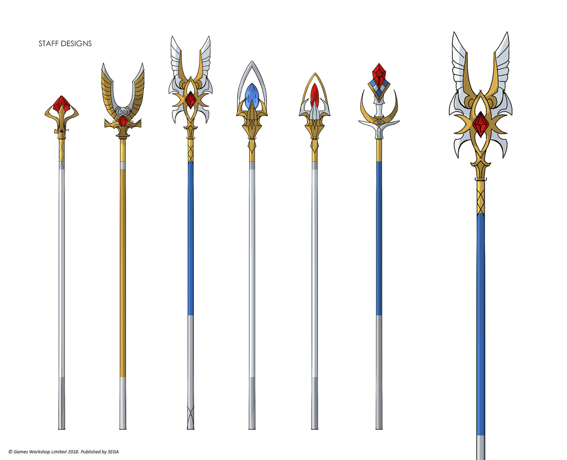 Staff designs