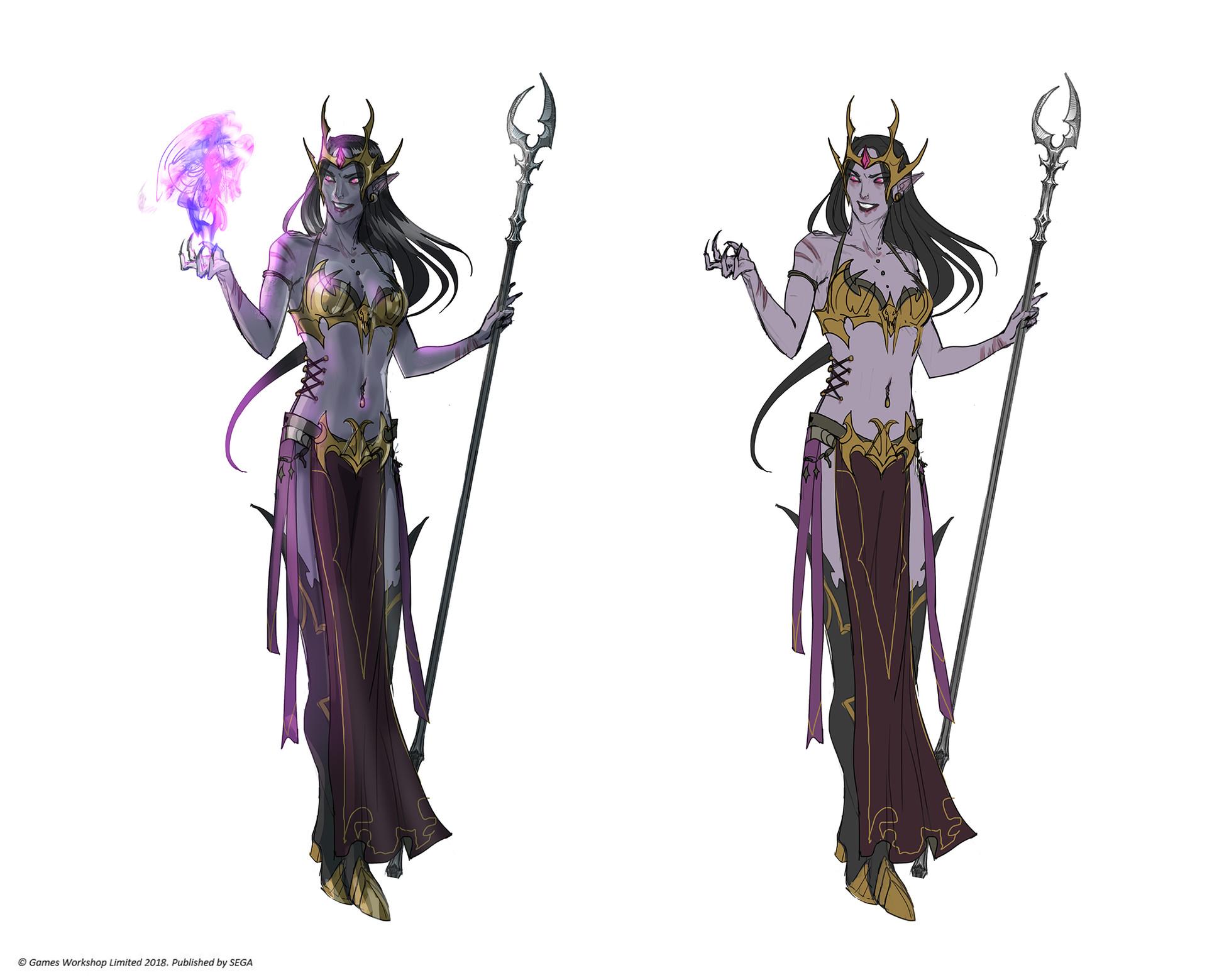 Felicion - dark elf sorceress, Malekith's loyal servant