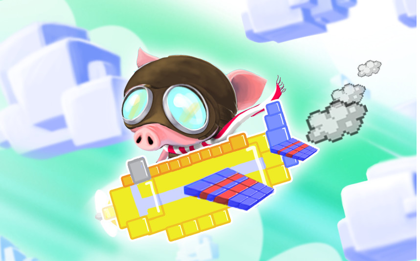 Pig flying a pixel plane concept