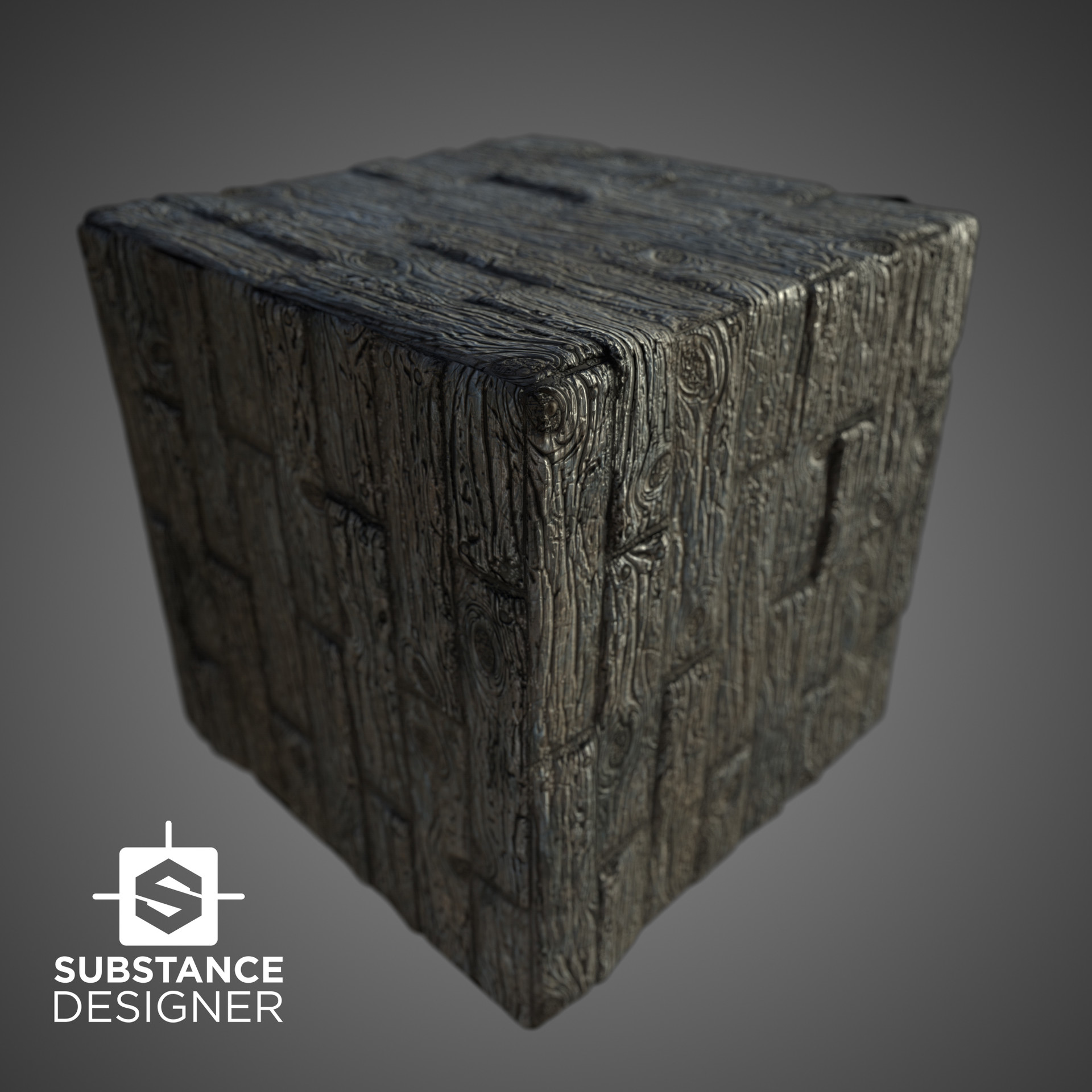 ArtStation - Wood planks aged in Substance Designer / UE4 and Unity
