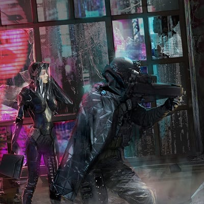 Maik beiersdorf cyberpunk illustration web