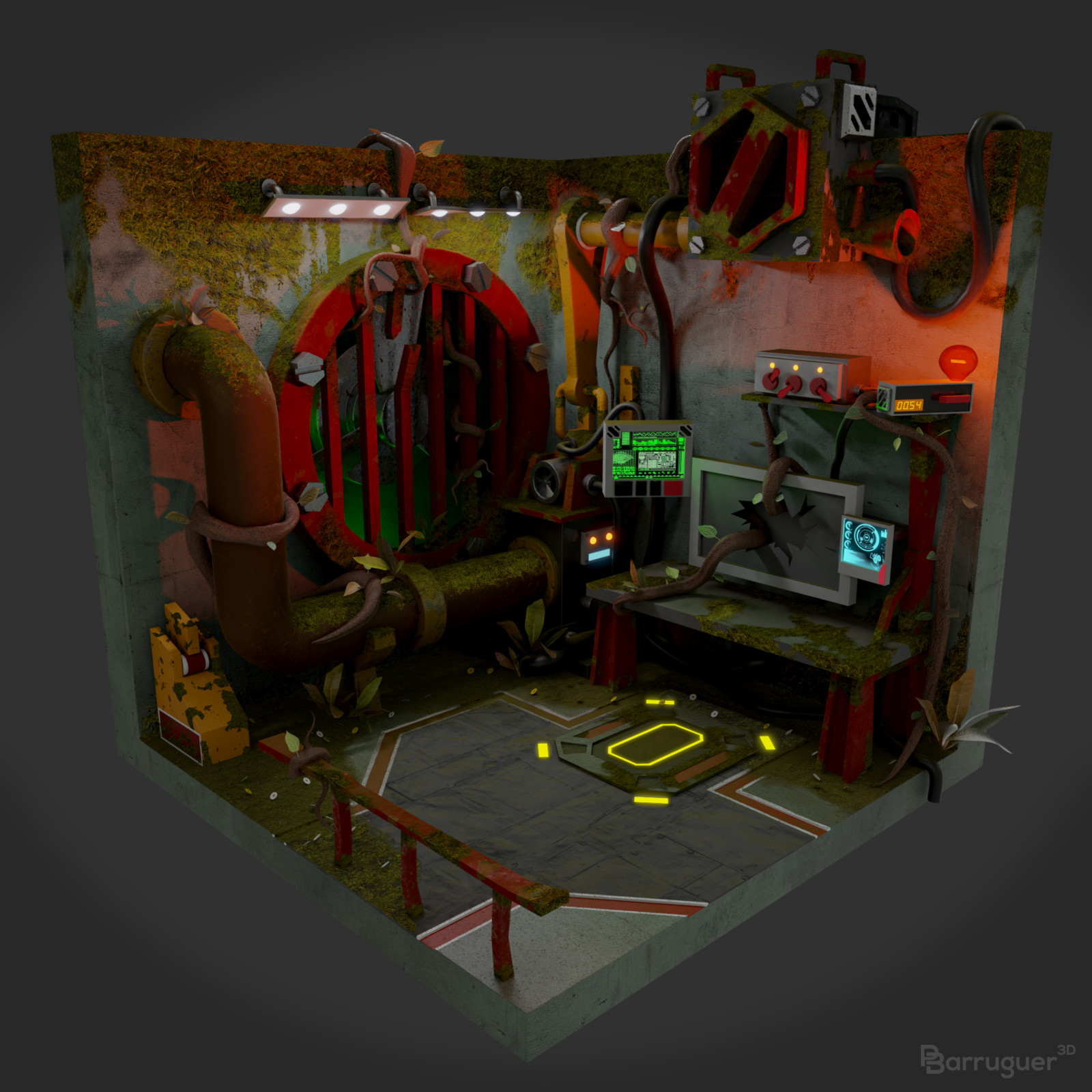 Vesta Level 6 Diorama