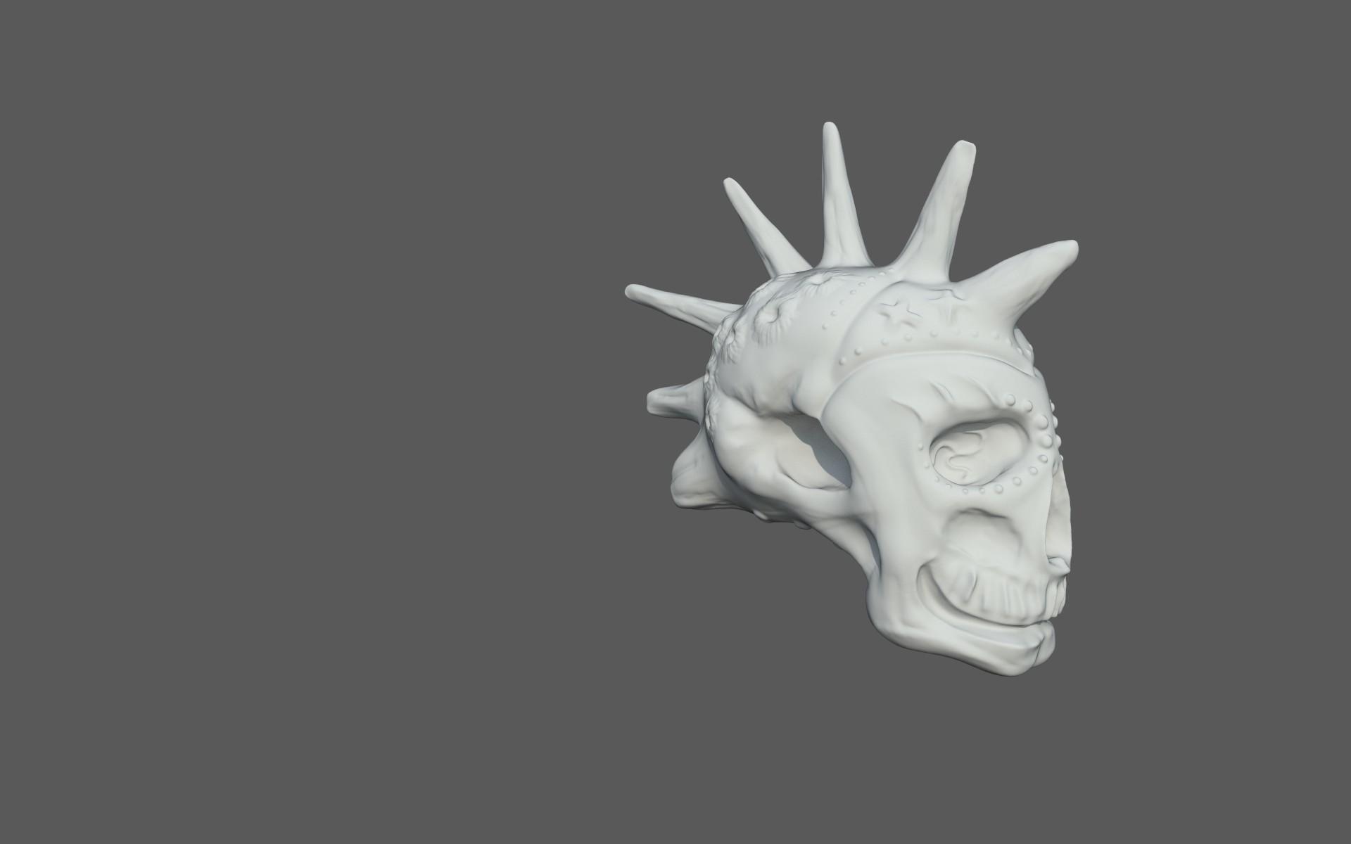Matej chalachan skull sculpt2