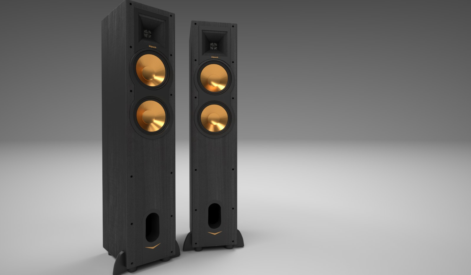 floorstanding floors kf products floor view video speakers the klipsch icon speaker angle