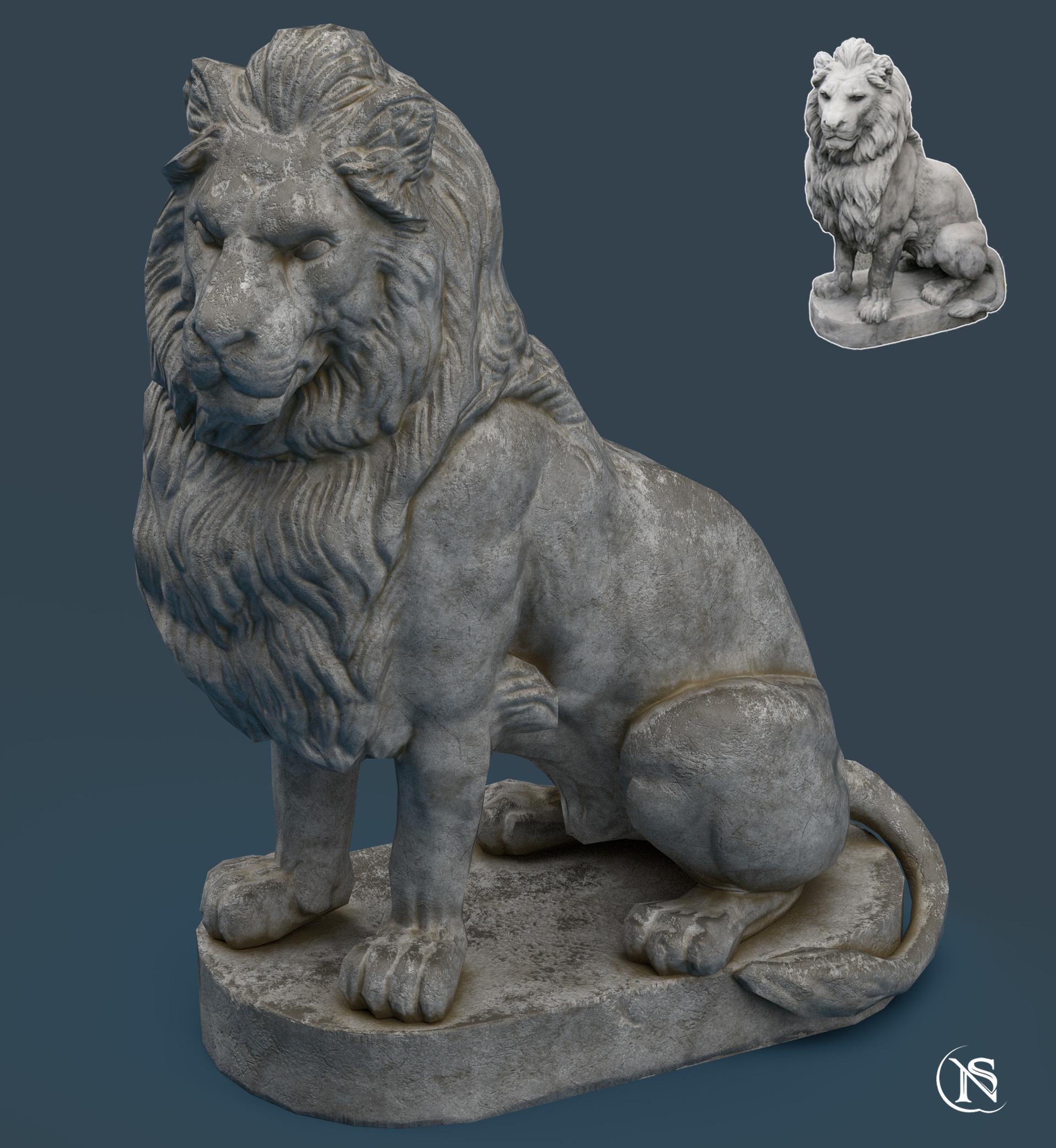 ArtStation - Lion Statue Re-Texture, Noe Serrano