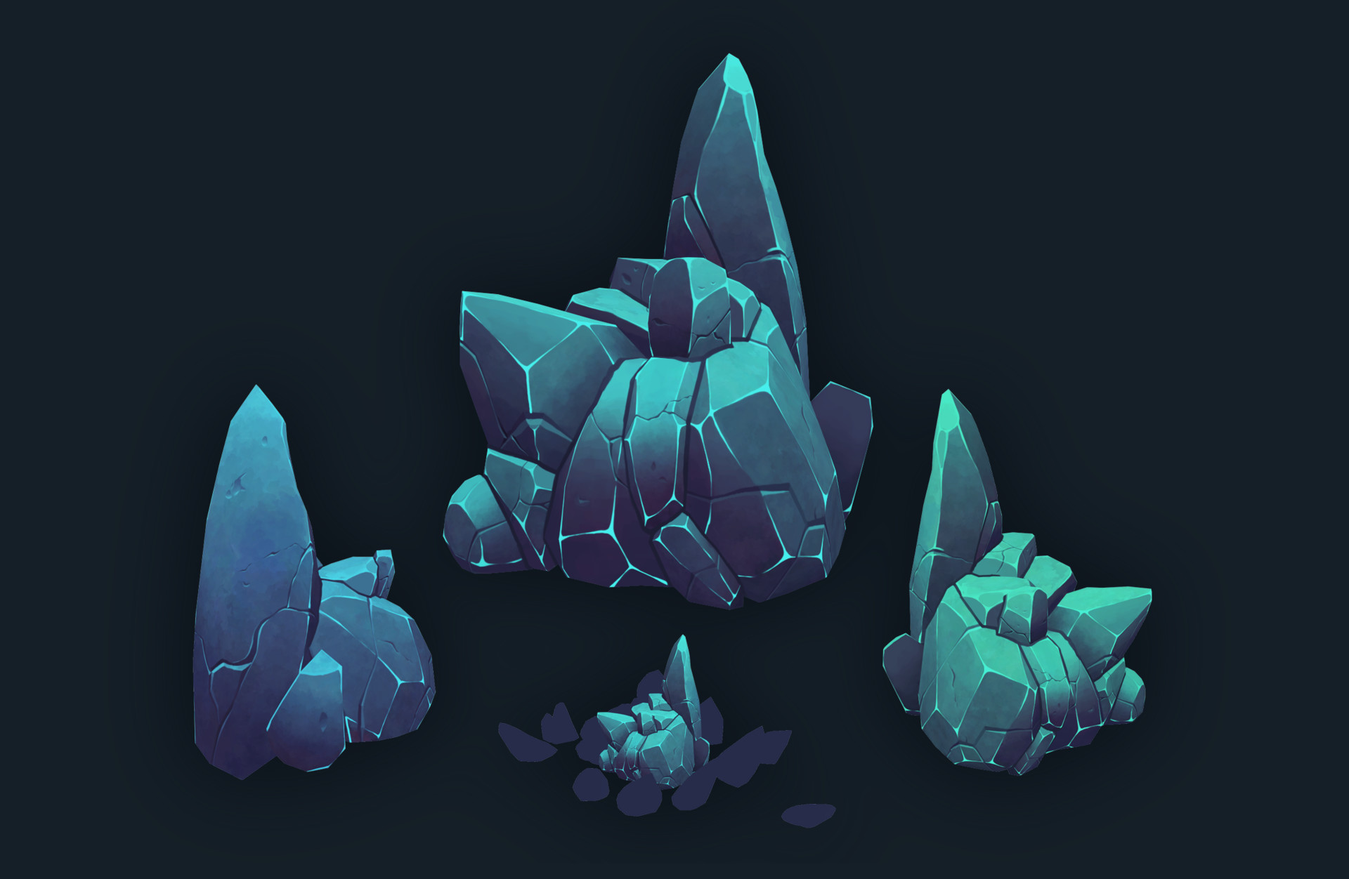 Hand painted rocks  : 3Dmodeling