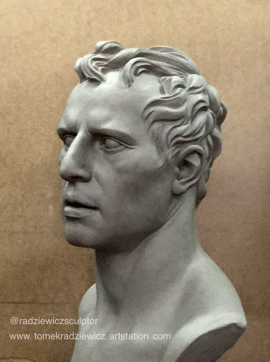 Classic portrait/water clay/1:1