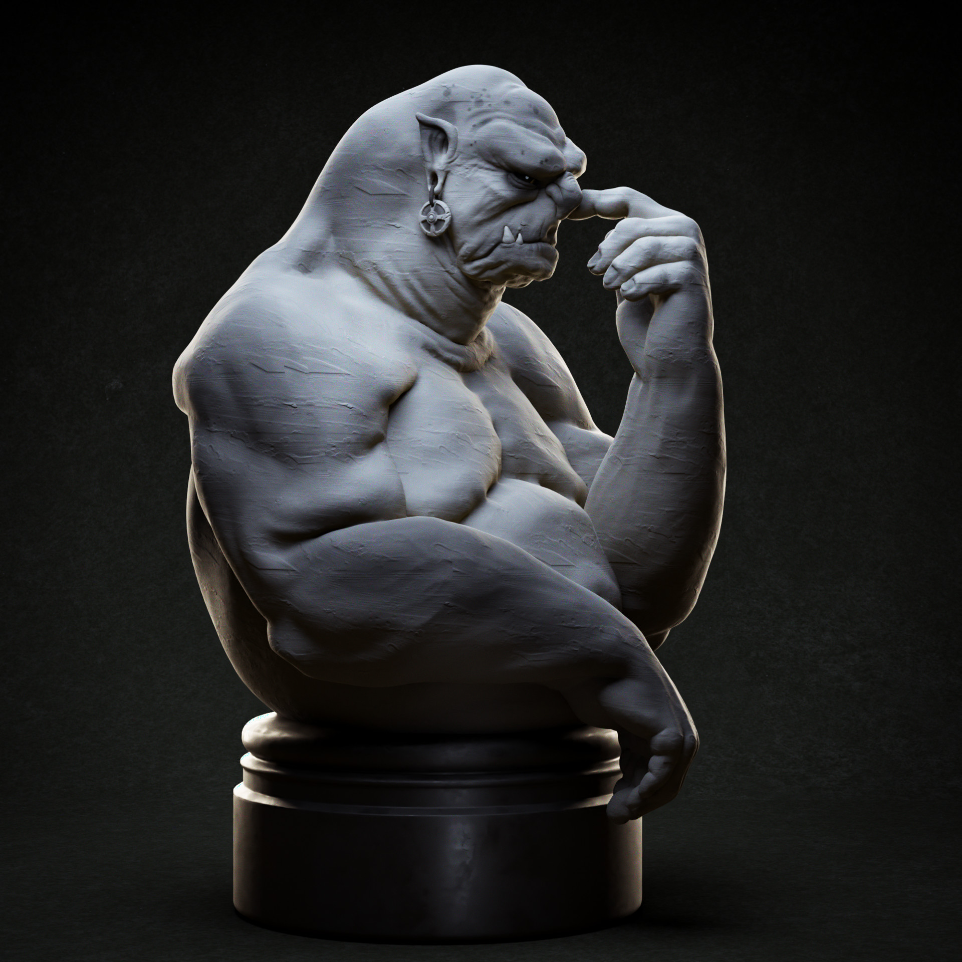 Day 10: Disgust (based on an artwork by Johan Egerkrans: https://www.artstation.com/artwork/Y4A1Y)