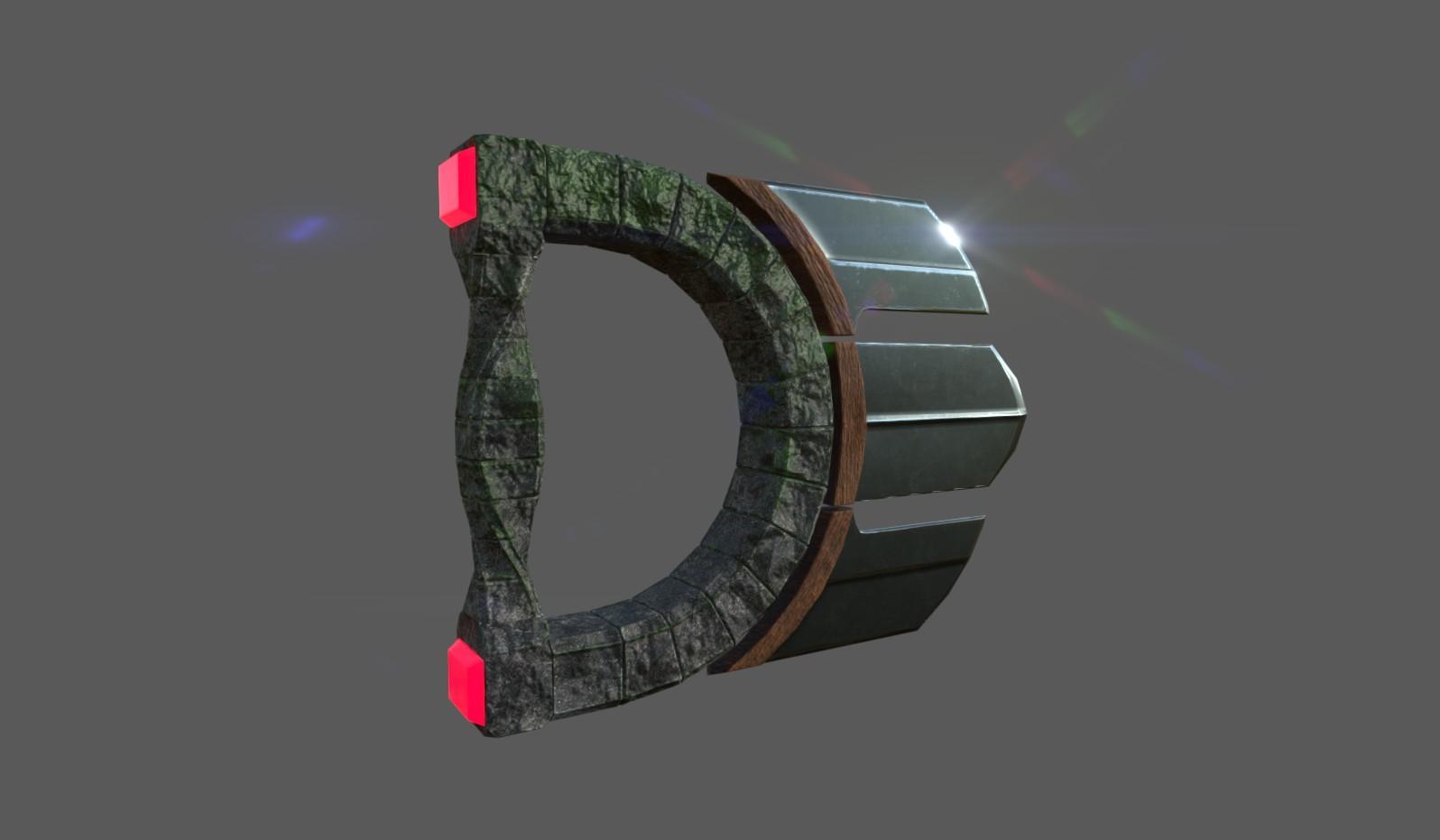 3D Initials Logo