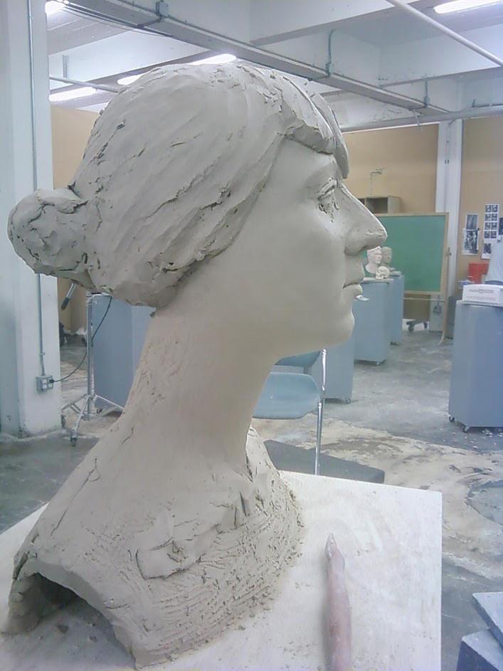 Vitaliy burov femalpotrait sculpture