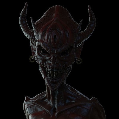 Chris rena female demon creature render 1