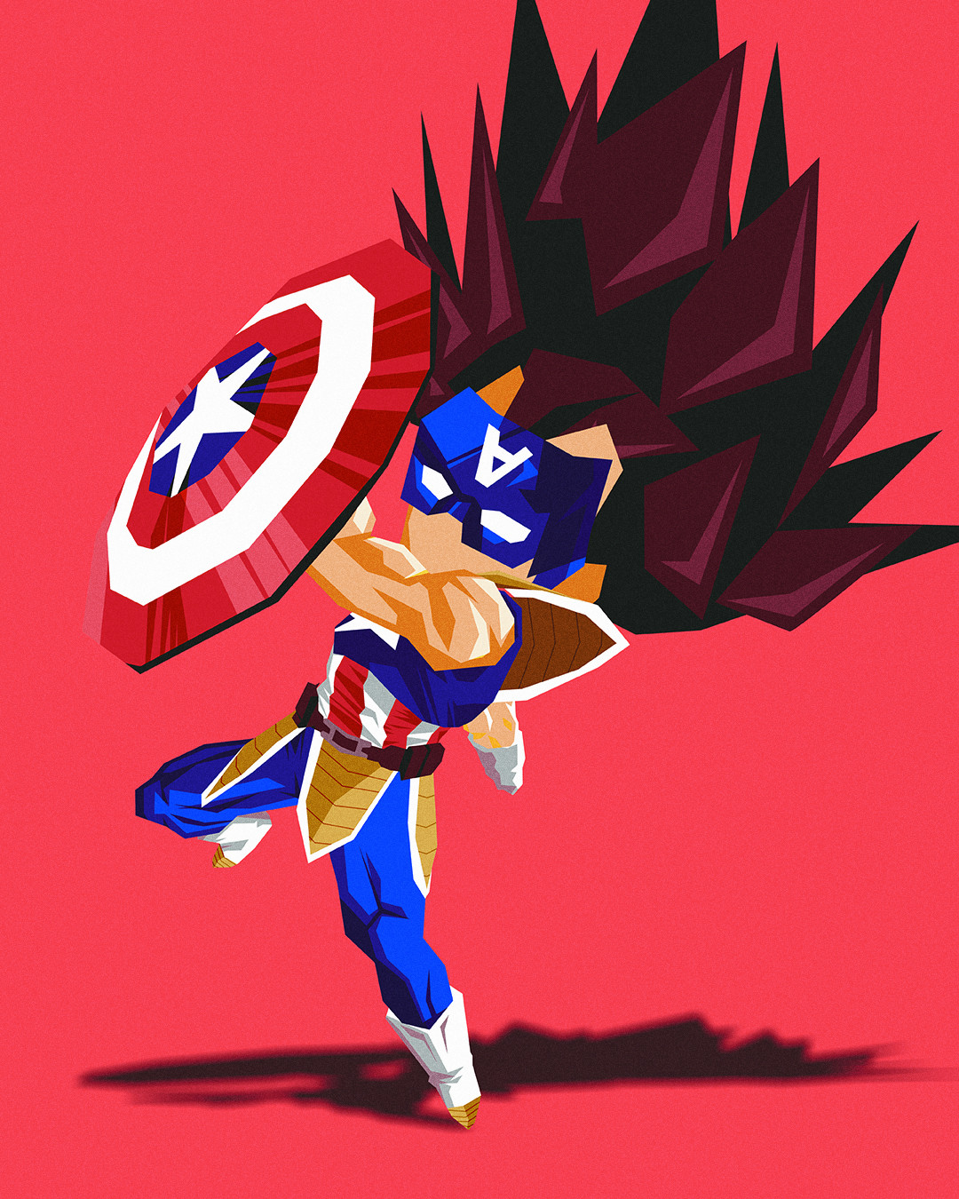 Character only - Vegeta x Captain America
