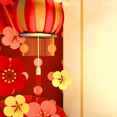 Tzuyu kao at traditional chinese new year background0111ss
