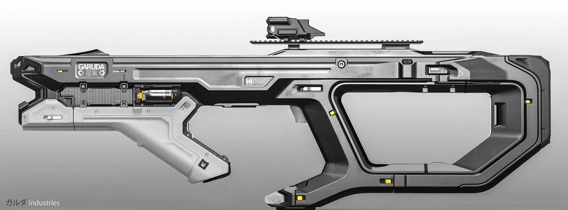 Alex senechal gun profile white a