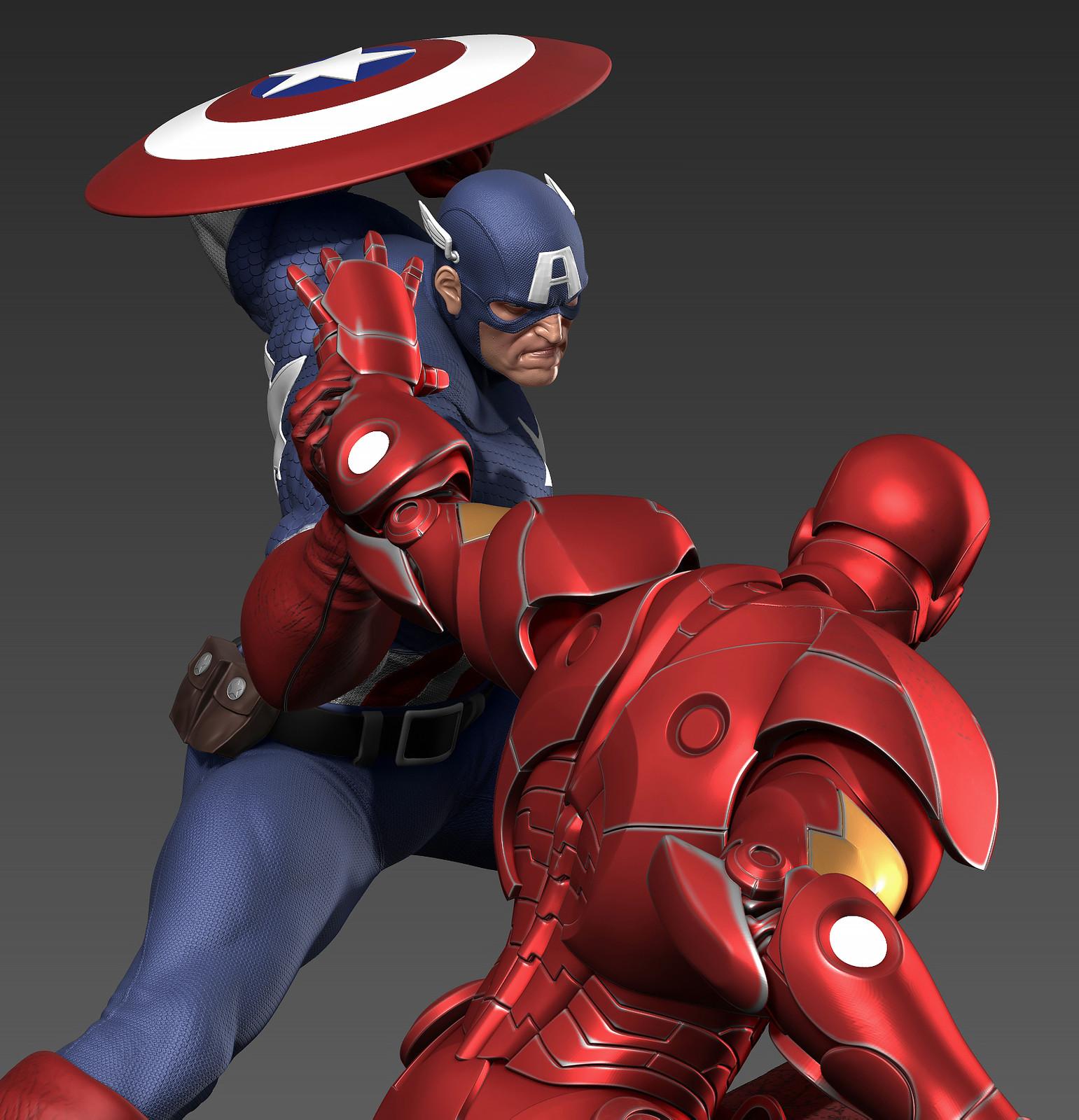 Civil War Captain America  vs Ironman