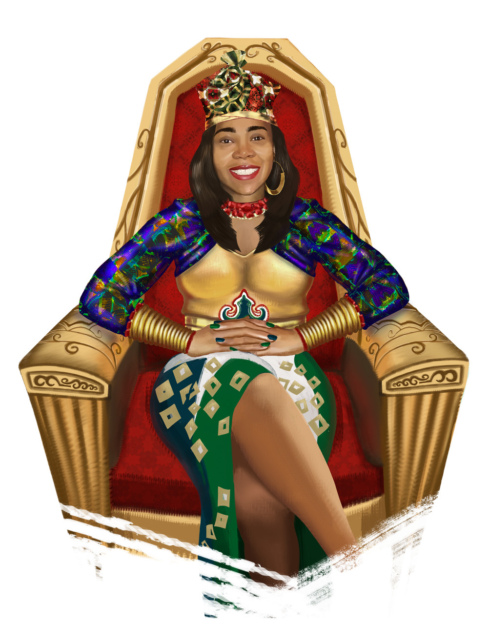 Seated Queen