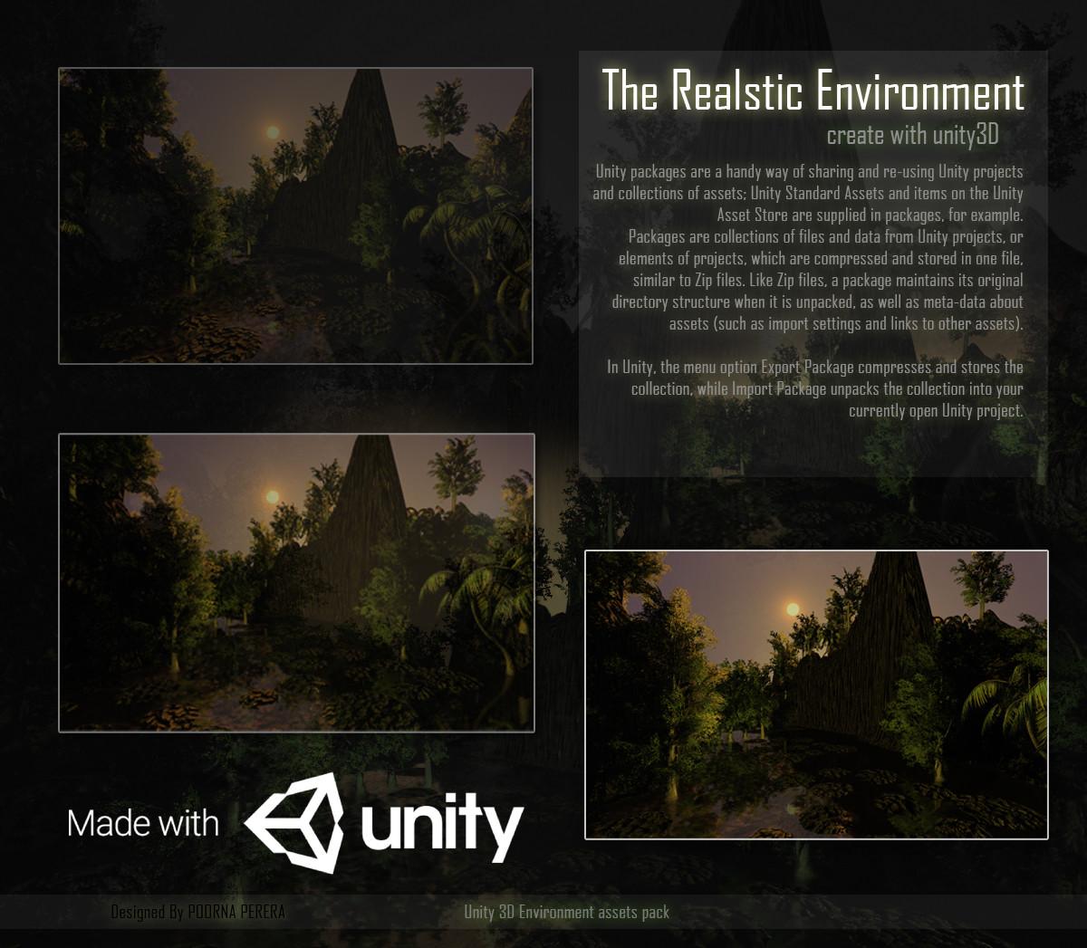 Poorna Perera - unity 3D environment