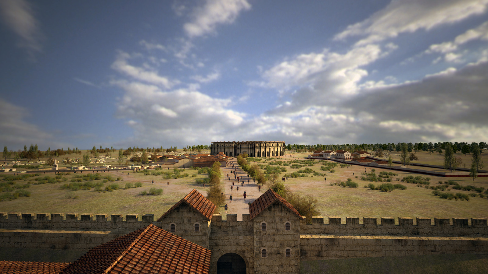 View from city wall towards amphitheater
