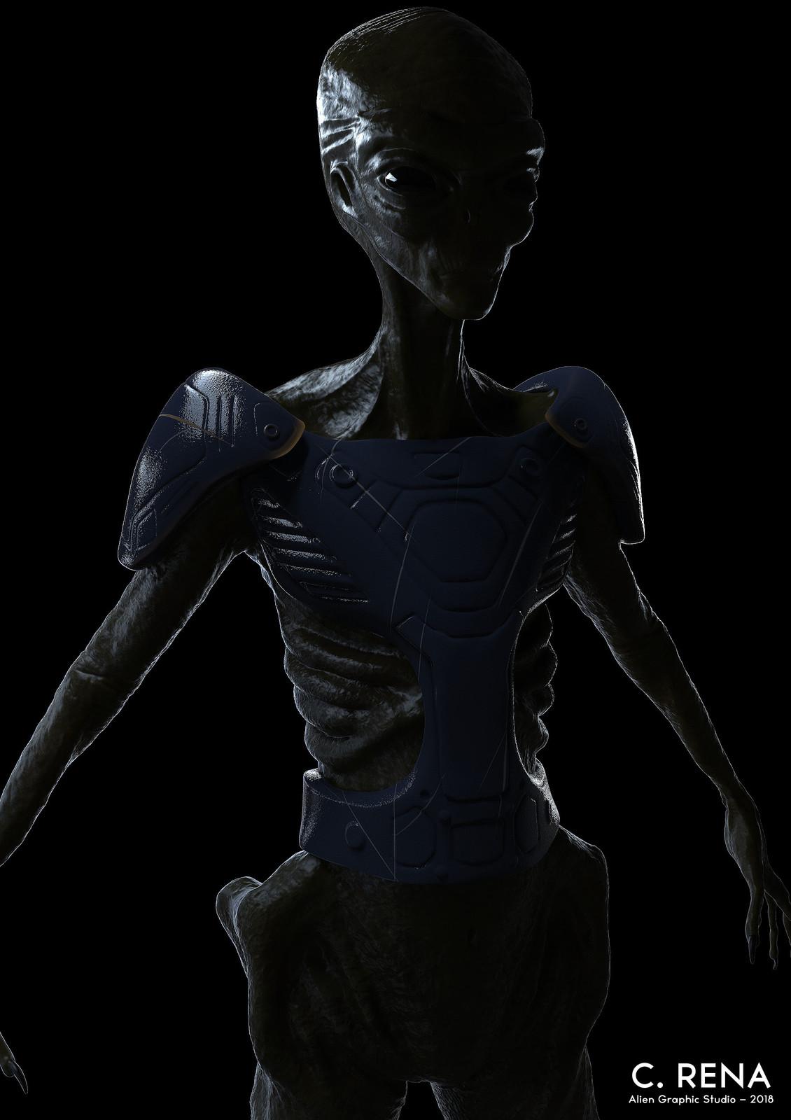 Keyshot render (blue armor)