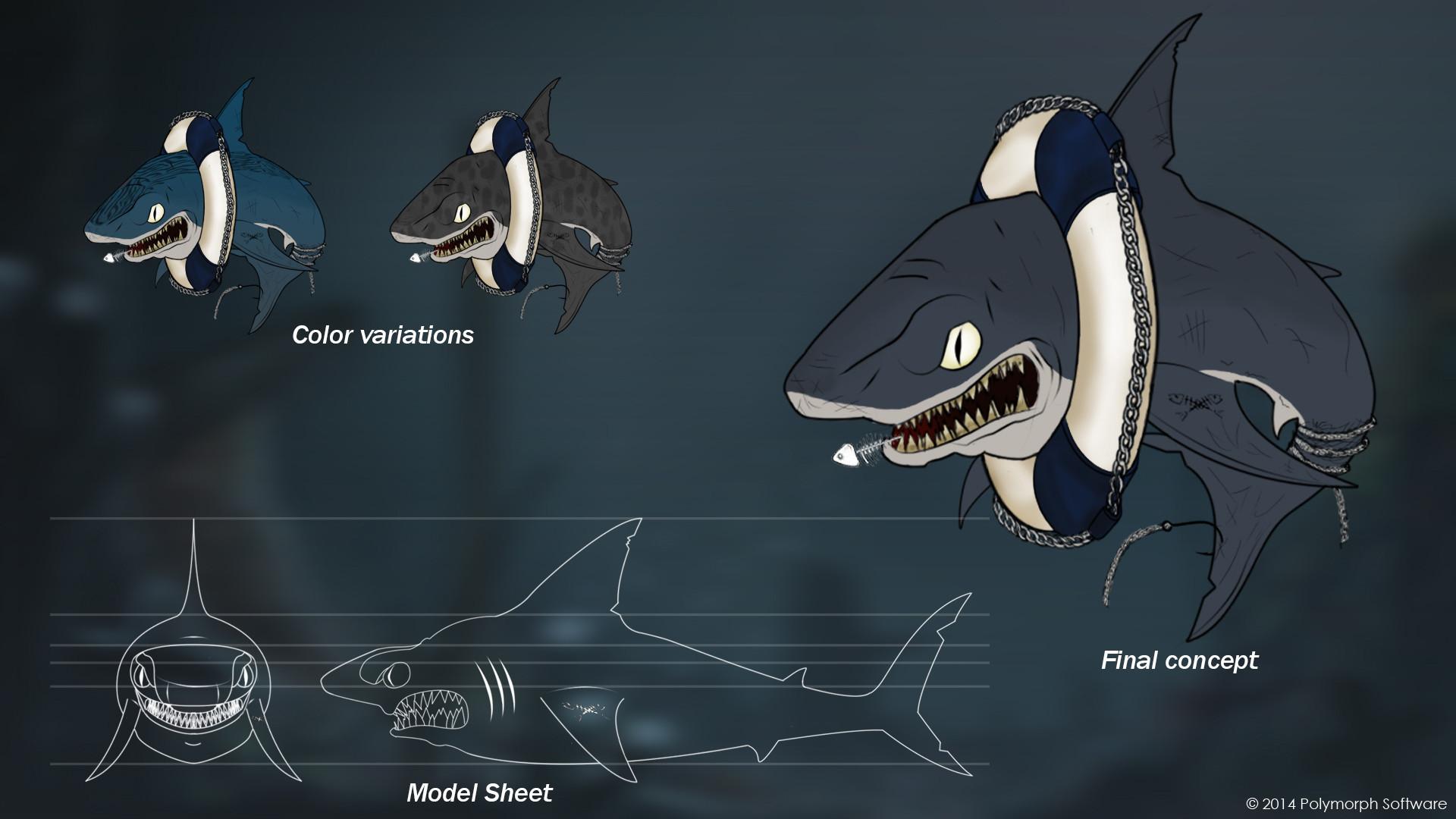 Kevin gille requin mechant planche