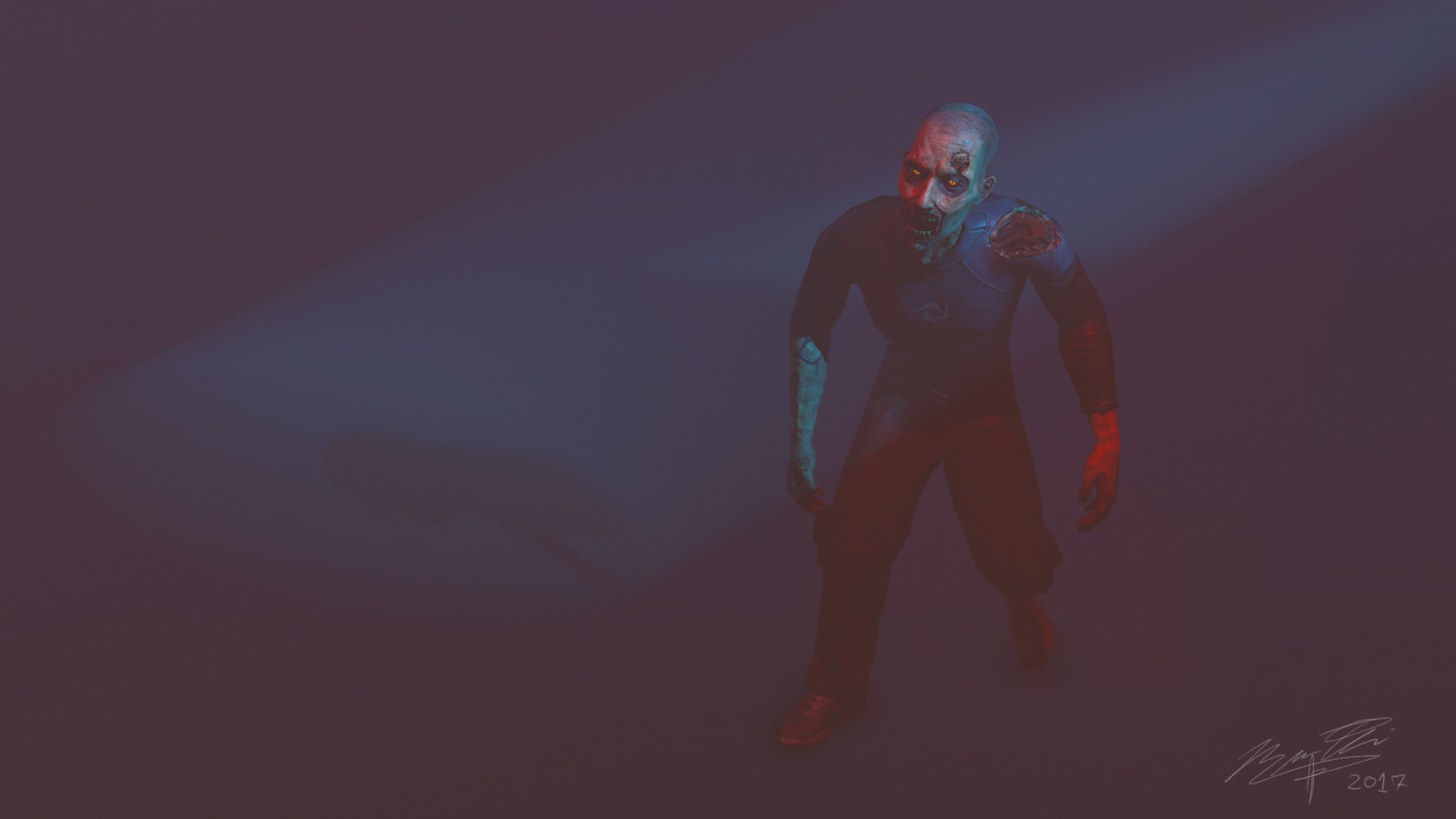 Zombie - Synergy Blue Art Test