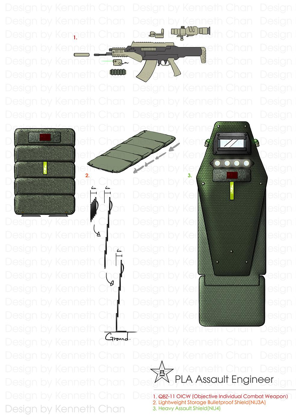 PLA Assault Engineers EOD Gear  Weapon & Shield