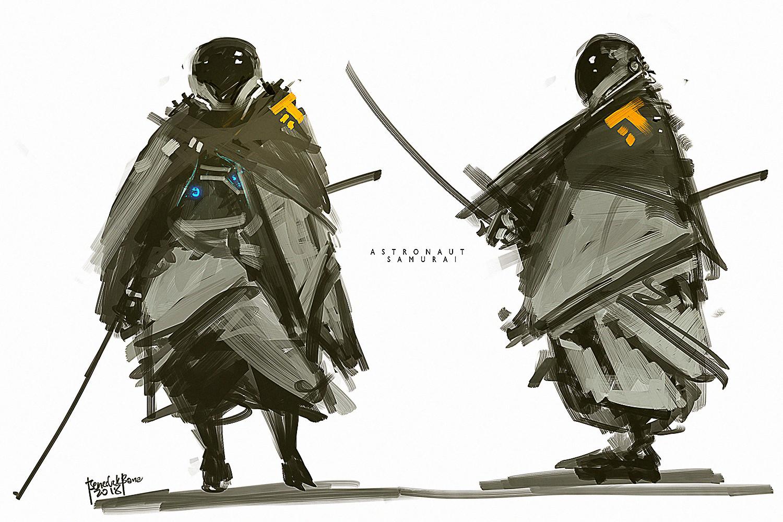 Benedick bana astronaut samurai lores