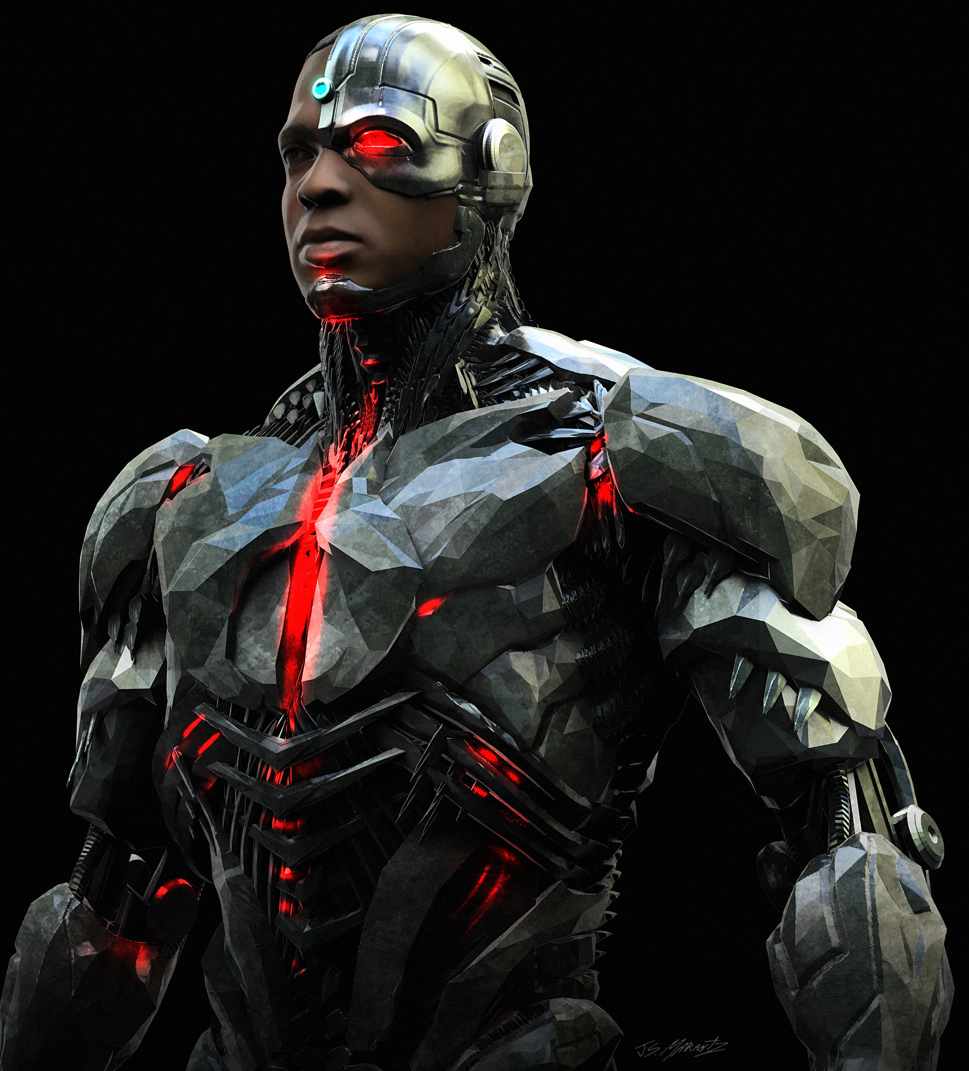jl cyborg concept art by jerad marantz dc cinematic