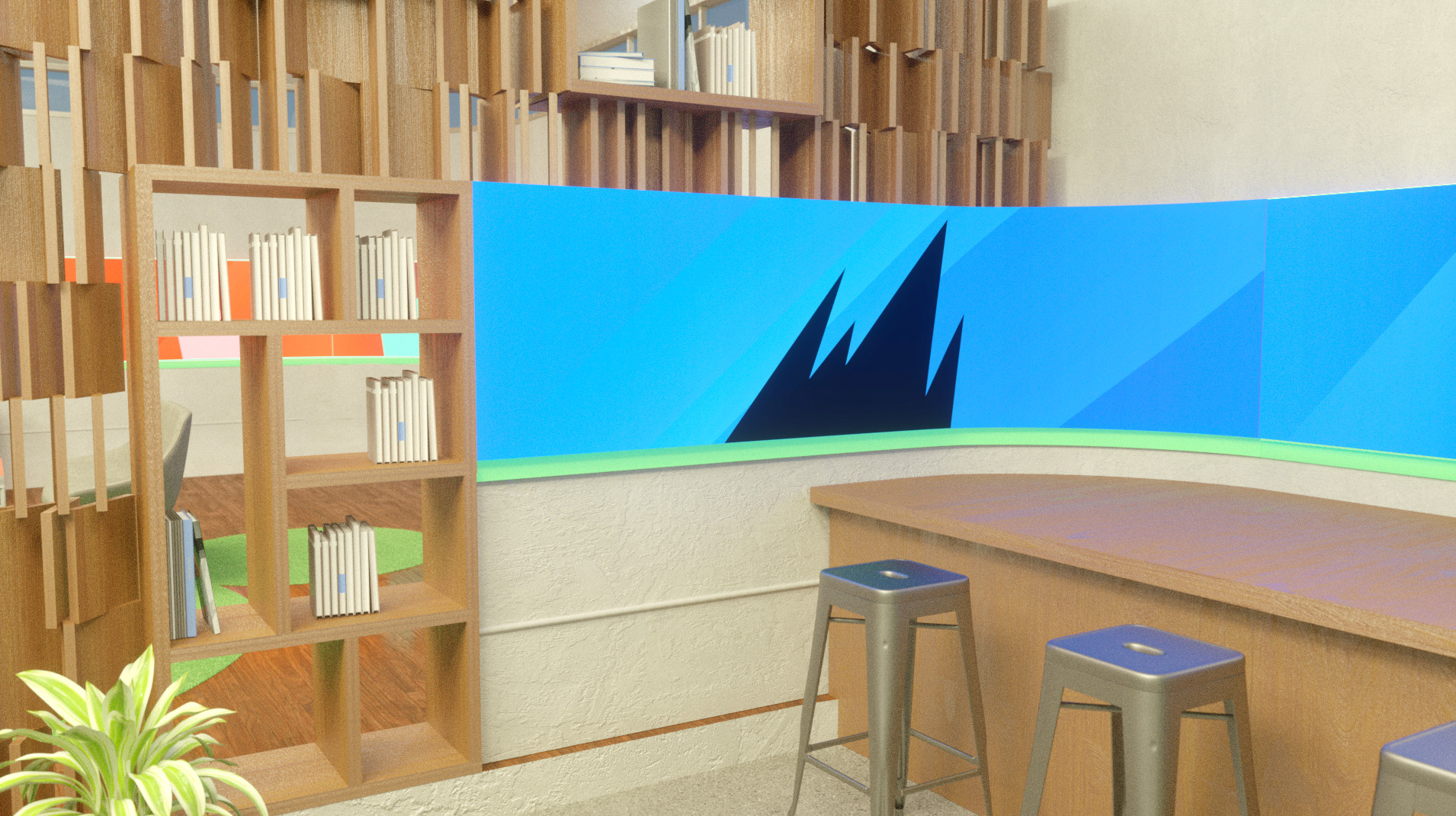 Spotify showroom concept.