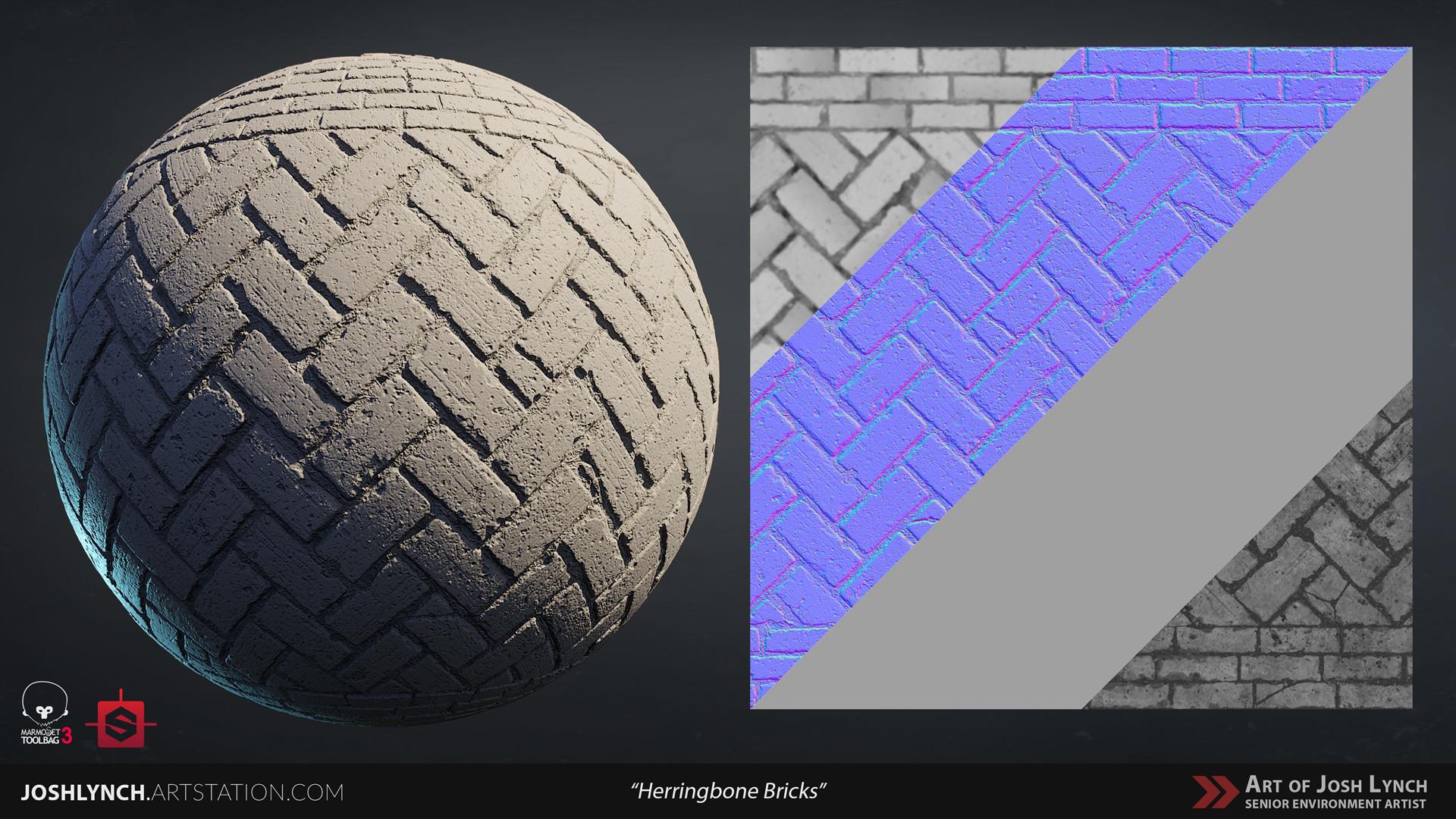 Joshua lynch floor cobblestone herringbone 01 sphere gray