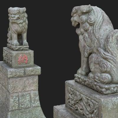 Vlx kuzmin two komainu 5 from shinto shrine japan