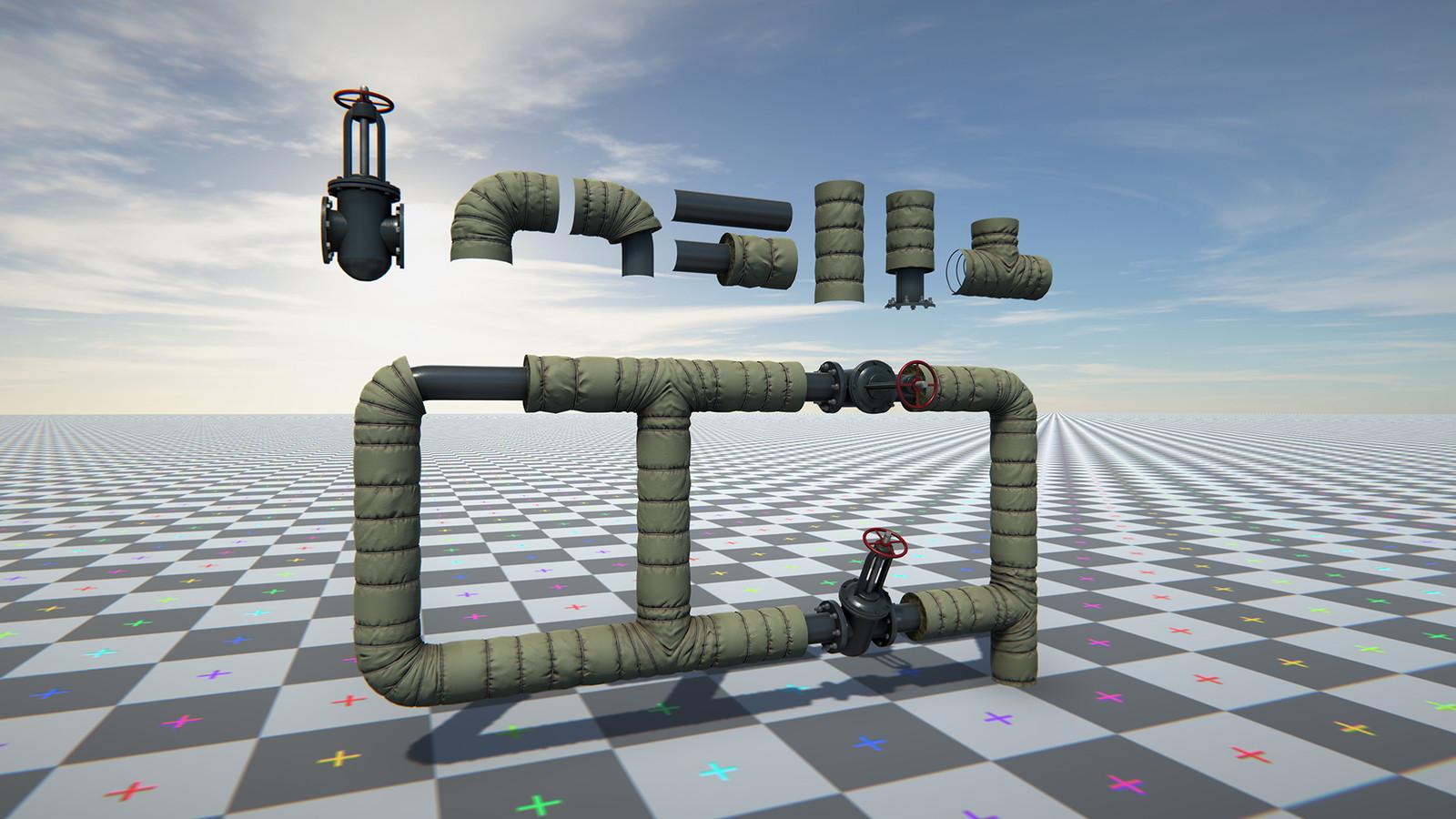 Modular pipes set