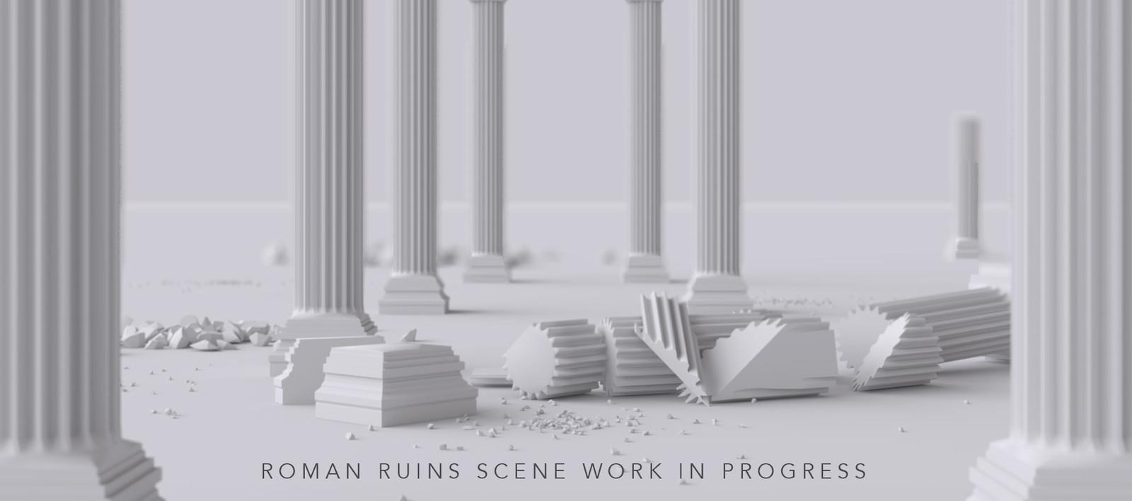Roman Ruins - Environment WIP