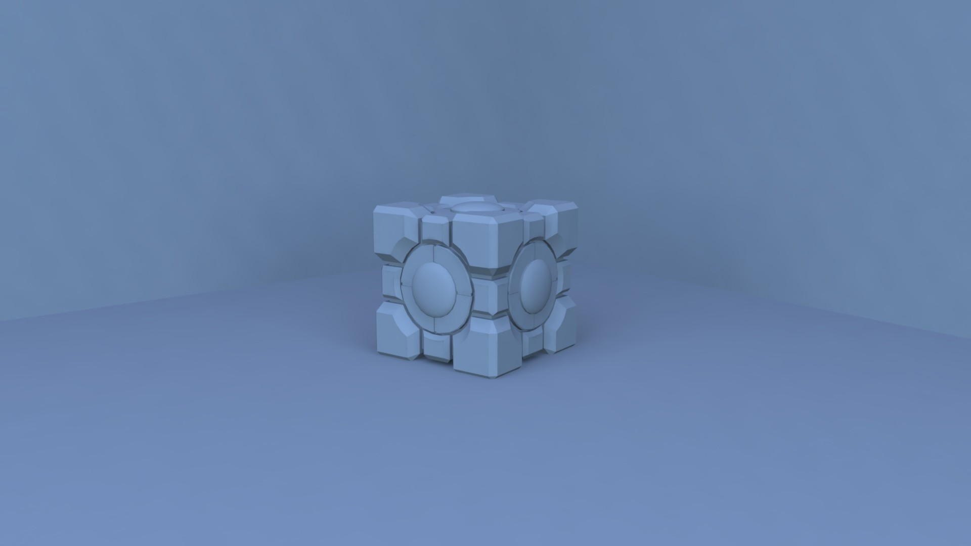 ArtStation - Lighting/Rendering Experiment using Companion Cube