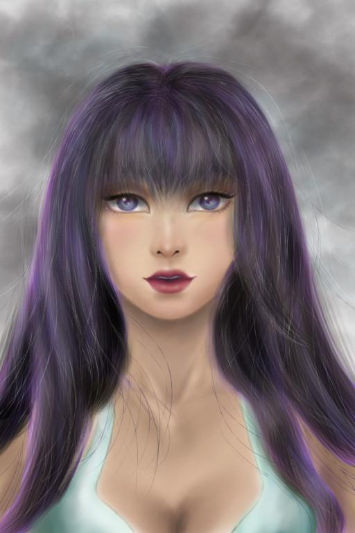 Loan nguy n purple hair