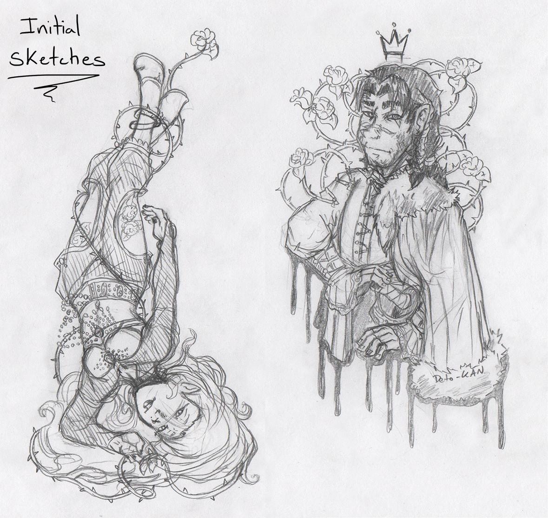 Detonya kan mercenaryandpriestess sketch
