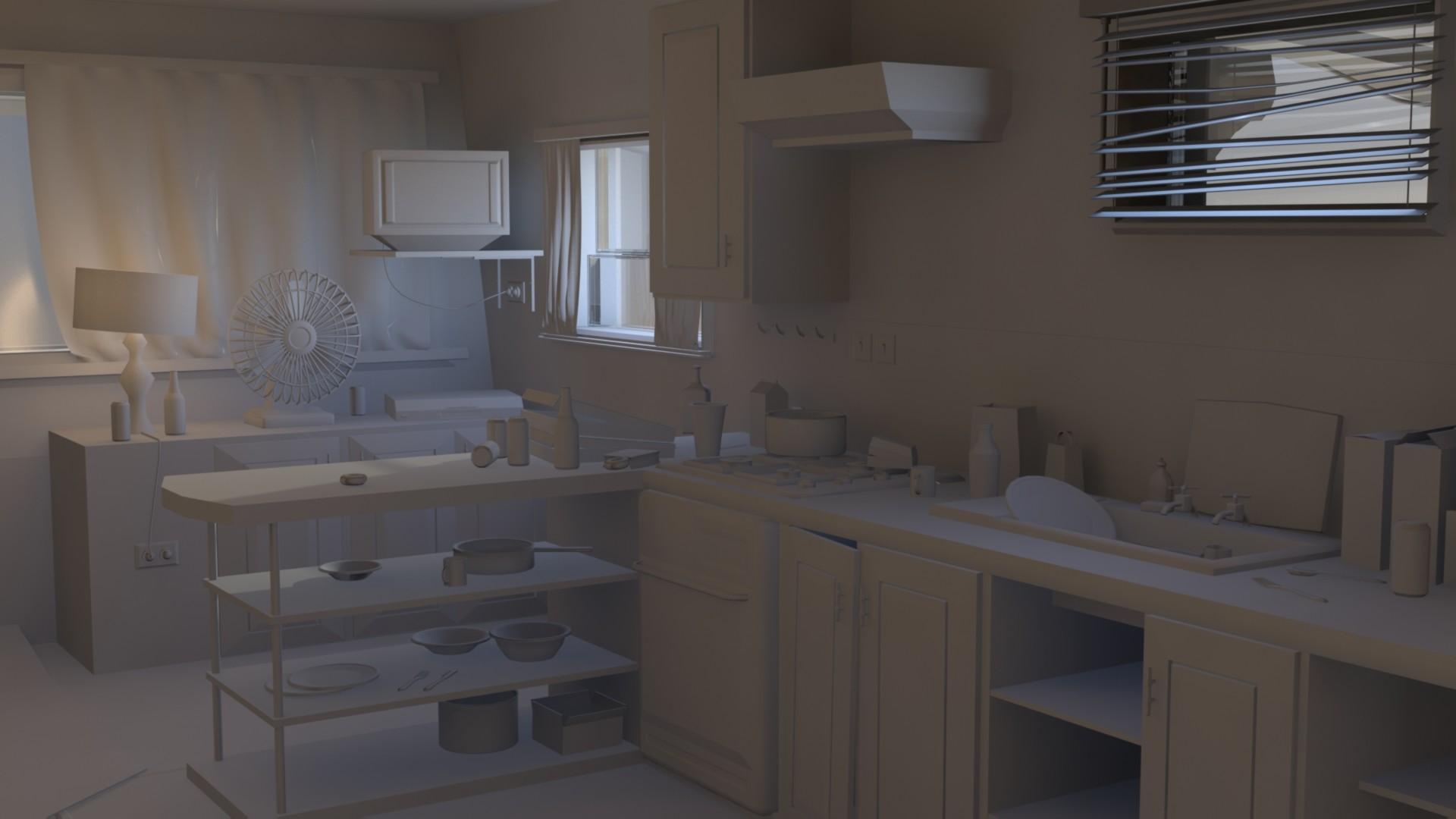 ArtStation - Trevor's trailer - Interior (WIP), Taylor Olbison