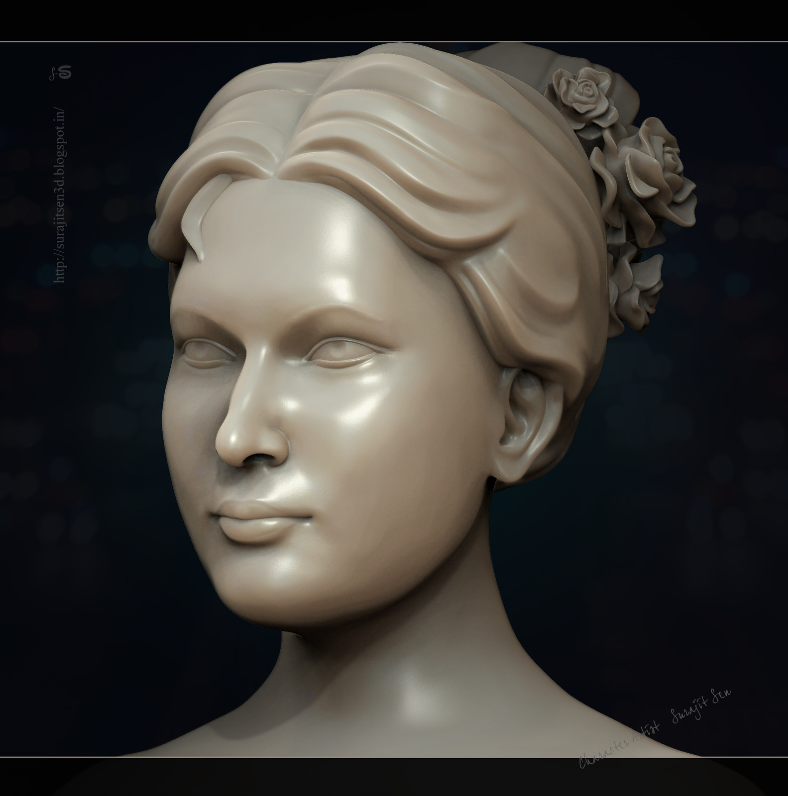 My recent R&D work ....Stone finish Female Sculpt.... Wish to share a snap .....:)