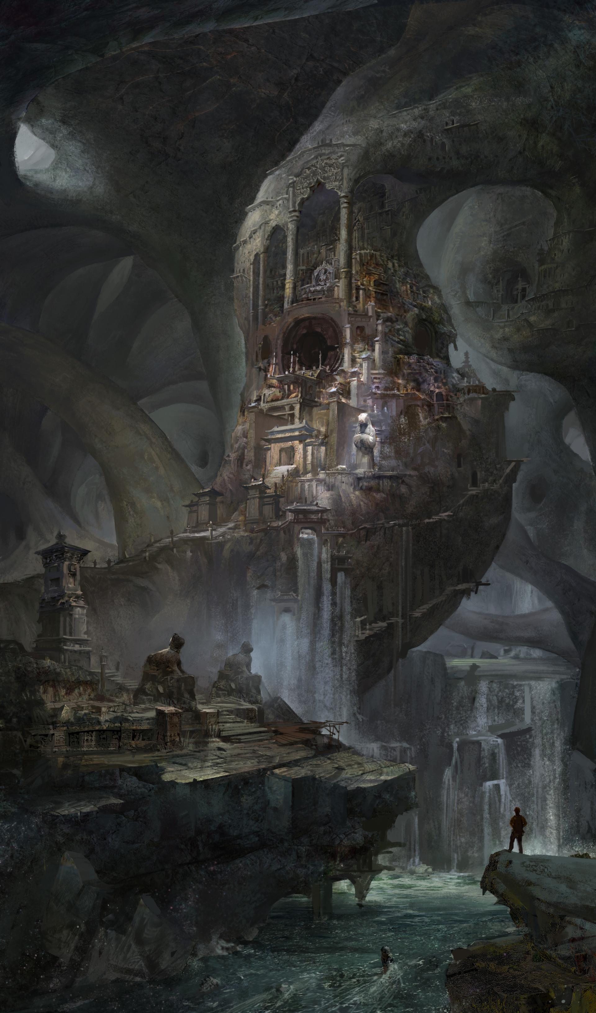 ArtStation - Discover the underground city, Ze Pan