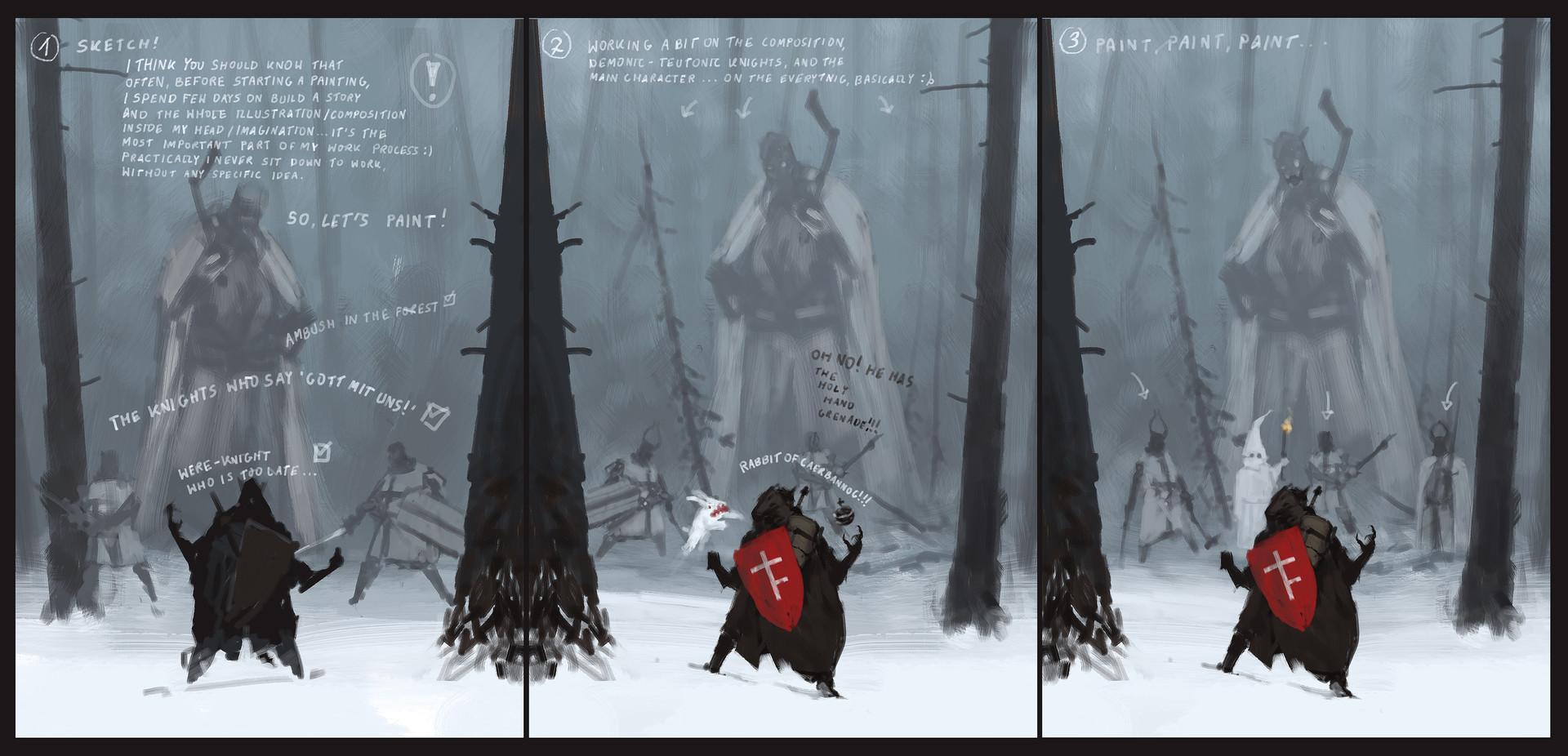 Jakub rozalski starza wolfpack process1