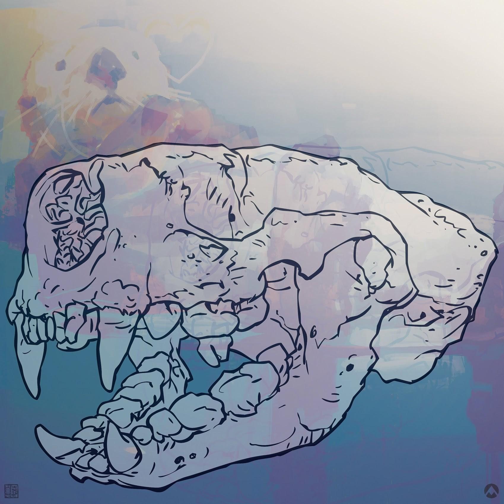 Skull outline...