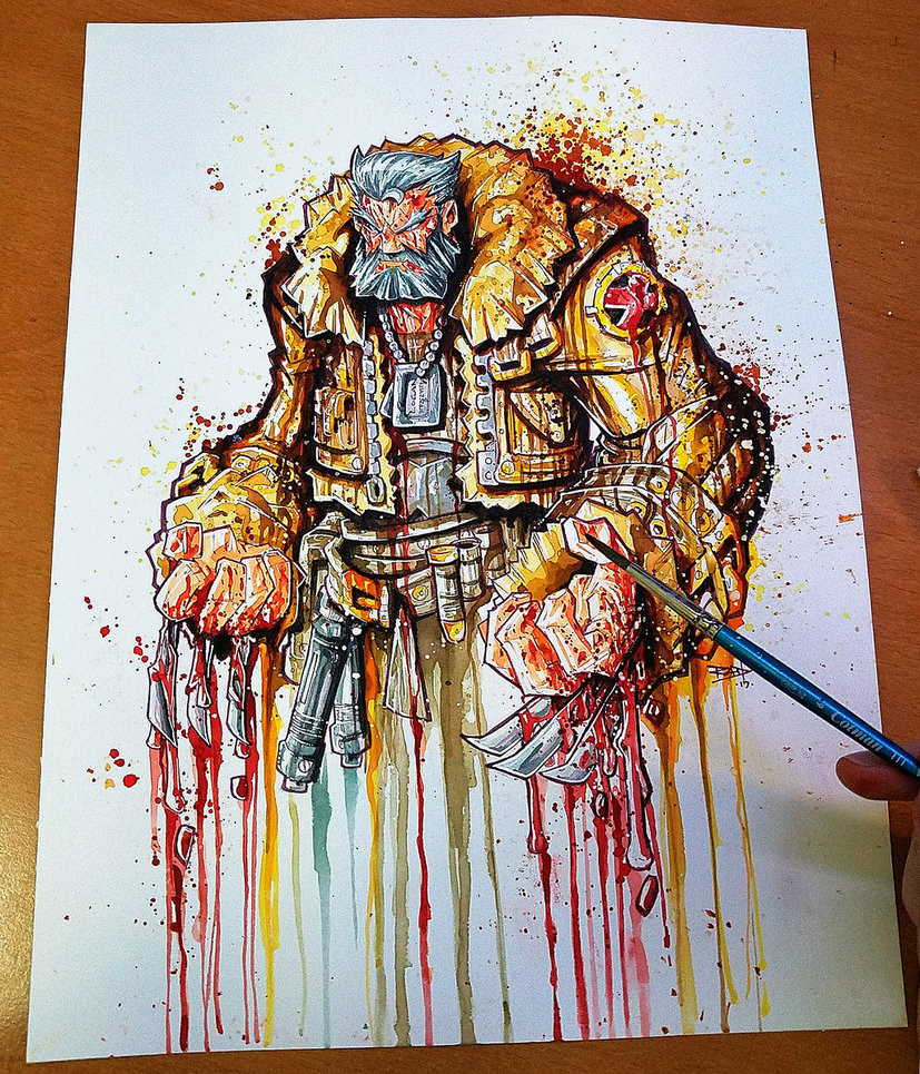 "Old Man Logan ""Saucy"" Watercolor Commish"