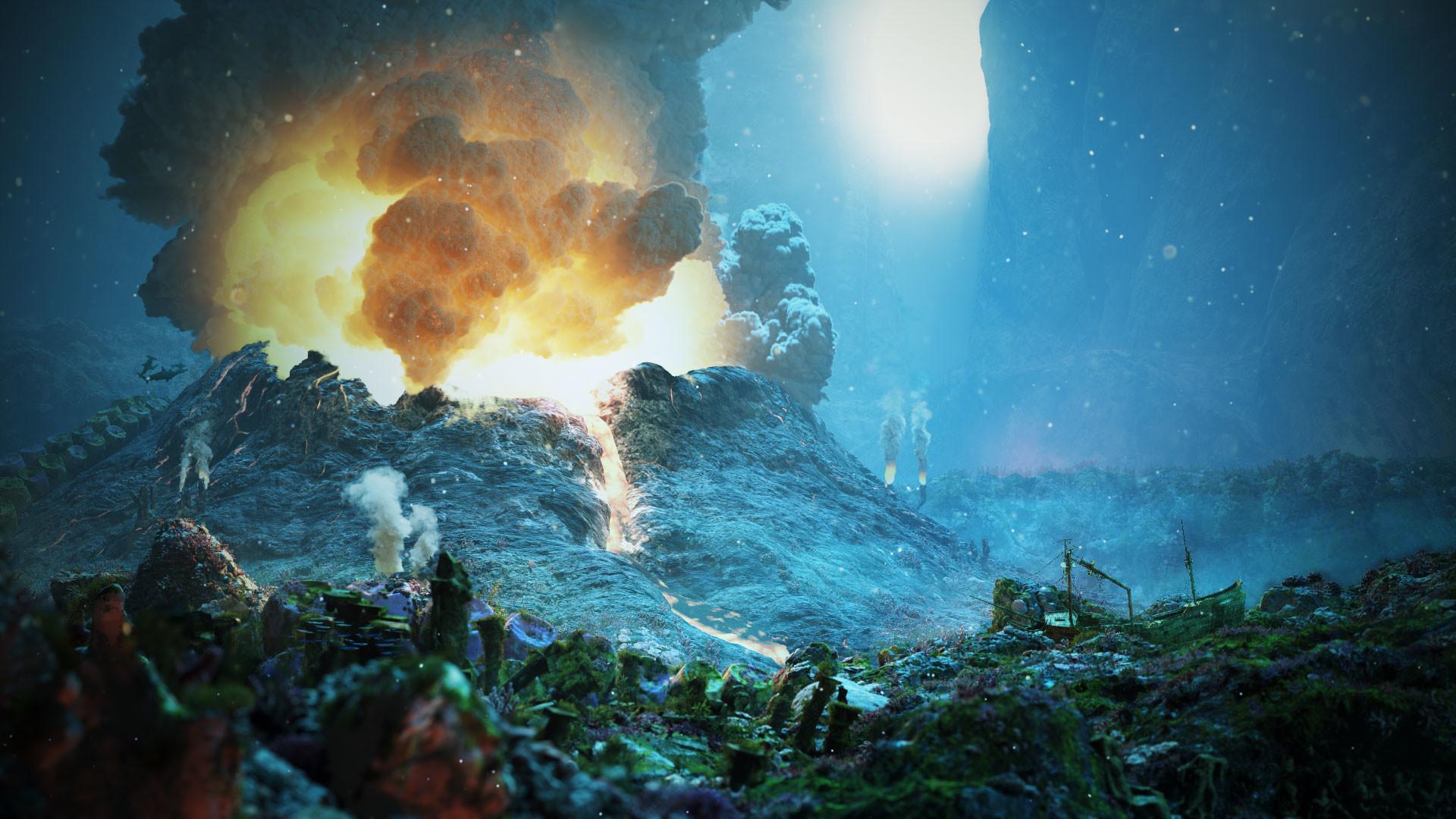 ArtStation Underwater Volcano Samuel Enslin