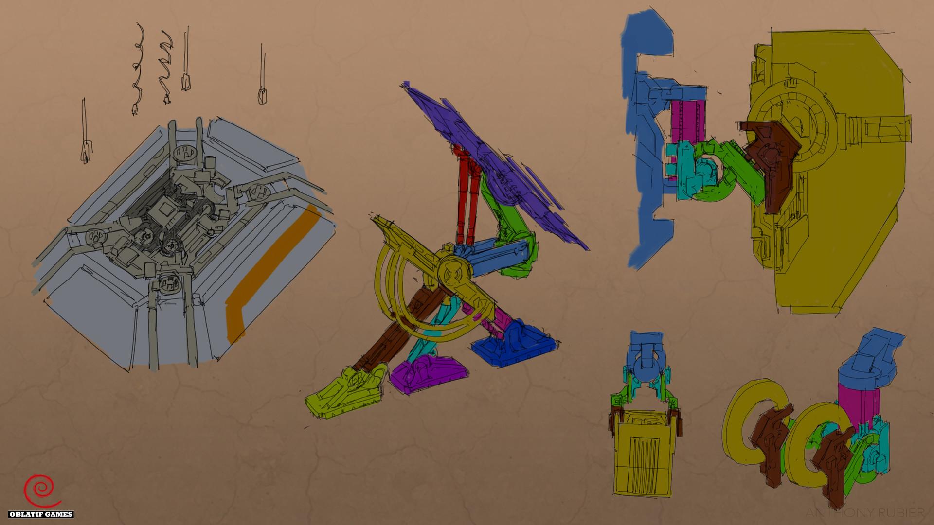 Anthony rubier concepts neon vaisseau mecanismes
