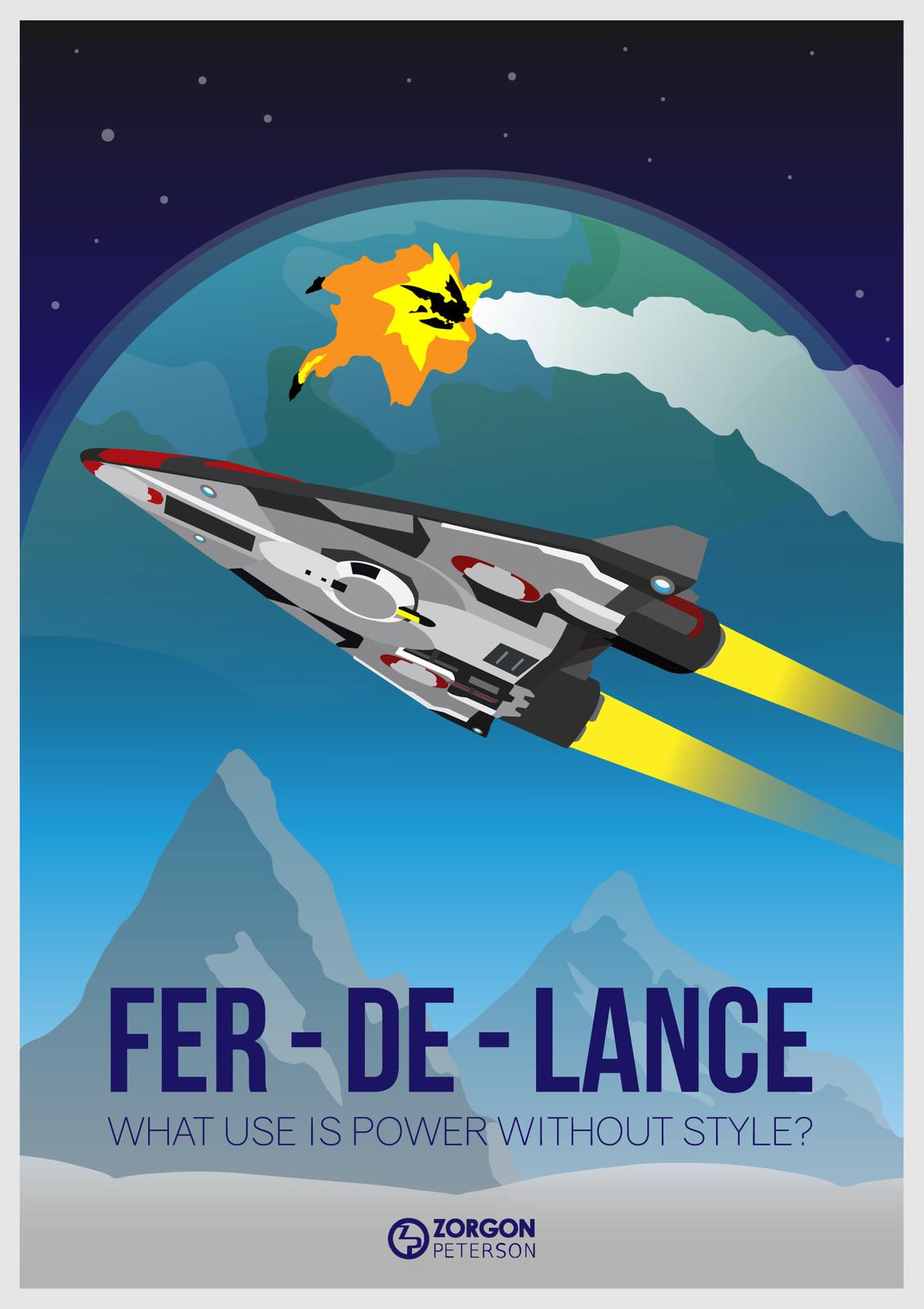 Elite Dangerous - Fer-De-Lance Poster